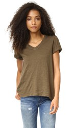 Wilt Roll Sleeve Baby V Neck Tee Army
