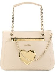 Love Moschino Chain Strap Tote Bag Nude And Neutrals