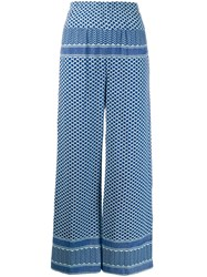 Cecilie Copenhagen Multi Patterned High Waisted Trousers 60