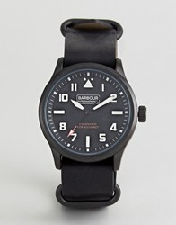 Barbour Bywell Watch With Black Strap