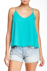 Astr Surplice Back Cami Green