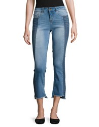 William Rast Two Tone Cropped Jeans Blue