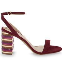 Aldo Izabela Heeled Sandals Bordeau Abarasivato