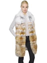 Yves Salomon Graident Fox Fur Vest