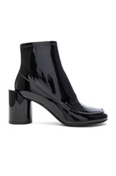 Maison Martin Margiela Patent Leather Booties In Black