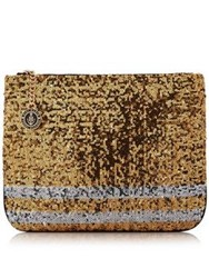 Tommy Hilfiger Gigi Sequin Clutch Bag Gold