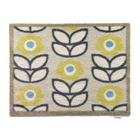 Hug Rug Home Garden Collection Door Mat Home 17 Green Blue Flowers