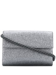 Rodo Glittered Shoulder Bag Silver