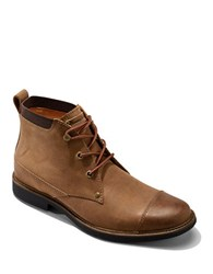 Tommy Bahama Labane Lace Up Boots Tan