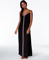 Raviya Embroidered Trim Maxi Dress Cover Up Women's Swimsuit