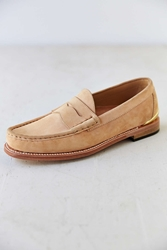 Caminando Heel Plate Penny Loafer Shoe Tan