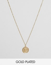 Ottoman Hands E Initial Pendant Necklace Gold