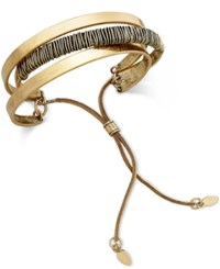 Inc International Concepts Gold Tone Wire Wrapped Triple Cuff Bracelet Only At Macy's