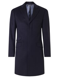 John Lewis Wool Cashmere Tailored Fit Coat Navy