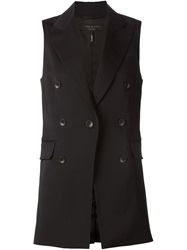 Rag And Bone Rag And Bone Double Breasted Vest Black
