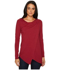 Fig Clothing Pailin Top Dragon Women's Long Sleeve Pullover Red