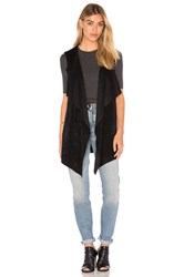 Velvet By Graham And Spencer Farren Drape Front Vest Black