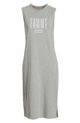Tommy Jeans Tjw Logo Midi Tank Dress Light Grey Htr