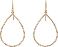 Irene Neuwirth Pear Shaped Cutout Earrings Colorless