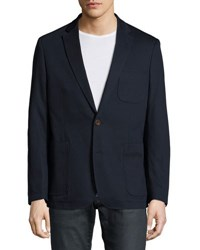 English Laundry Two Button Textured Blazer Navy Solid