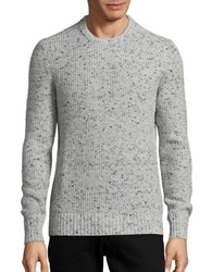 Michael Kors Marled Crewneck Ribbed Sweater Heather Grey