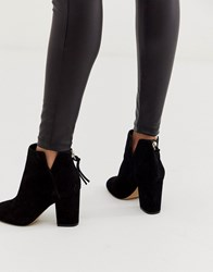 Aldo Dominicaa Kitten Heel Boot In Black Suede