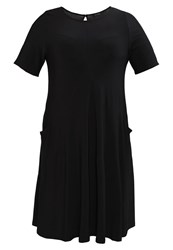 Evans Pocket Swing Jersey Dress Black