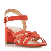 Linea Janner Block Heel Strappy Sandals Red