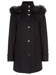 Planet Wool Duffle Coat Black
