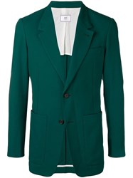 Ami Alexandre Mattiussi Two Buttons Long Fit Jacket Green