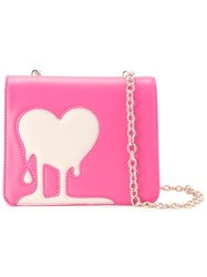 Love Moschino Melted Heart Crossbody Bag Pink Purple