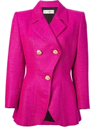 Yves Saint Laurent Vintage Fitted Blazer Jacket Pink And Purple