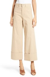 Sea Women's Cuff Cotton Khaki Pants