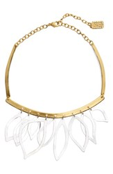 Karine Sultan Women's Two Tone Frontal Necklace Gold Silver Mix