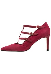 Dune London Carbon Classic Heels Burgundy Dark Red