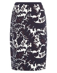 Nougat London Carla Print Skirt Indigo