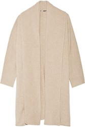 Rosetta Getty Wool And Cashmere Blend Cardigan Beige