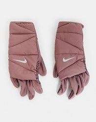 Nike Running Quilted Run Gloves 2.0 In Purple