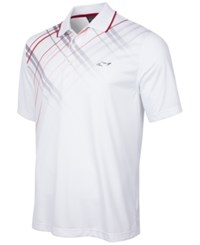 Greg Norman For Tasso Elba Plaid Trimmed Golf Polo Only At Macy's Bright White