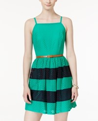 Amy Byer Bcx Juniors' Belted Colorblocked A Line Dress