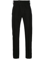 Lost And Found Rooms Dislocated Fastening Slim Fit Trousers Men Cotton Spandex Elastane M Black
