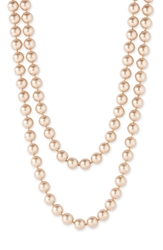 Nordstrom 10Mm Glass Pearl Extra Long Strand Necklace
