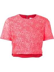 A.L.C. Floral Holiday Blouse Pink And Purple
