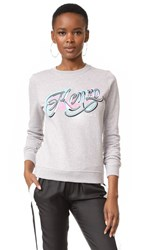 Kenzo Embroidered Sweater Pearl Grey