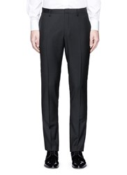 Lanvin Satin Trim Wool Tuxedo Pants Black