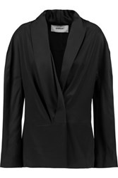 Chalayan Cutout Satin Jacket Black