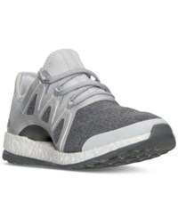 Adidas Women's Pure Boost Xpose Running Sneakers From Finish Line Clear Grey Silvermet Midg
