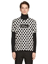 Love Moschino Logo And Dot Print Cotton Jersey T Shirt