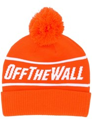 Vans Off The Wall Knit Cap Yellow And Orange