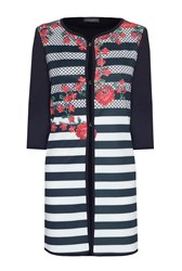 James Lakeland Stripe And Flower Print Jacket Multi Coloured